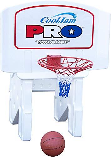 Cool Jam Pro Pool Basketball Goal Hoop Net | Includes 2 Basketballs | Adjustable Heights | Hard Molded Backboard | Sturdy & Stable Weighted Base | Make Your Swimming Pool The Neighborhood Arena