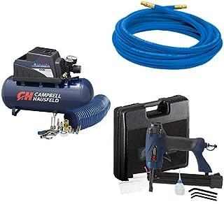 Campbell Hausfeld 3 Gallon Air Compressor, 25 FT Air Hose and Air Nailer Kit