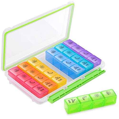 BUG HULL Pill Organizer 4 Times a Day Now $7.79