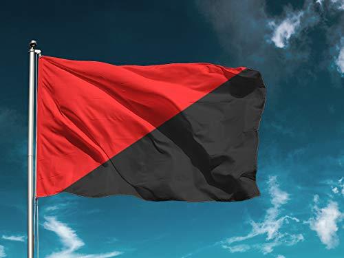 G I Bandera Anarquista | Medidas 150cm x 85cm | Fácil colocación | Decoración Exteriores (1 Unidad)