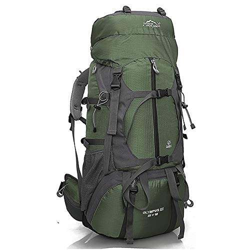 Adjustable Cycling Backpack MInternal Frame 65L Backpack Water-Resistant Hiking Daypack Backpacks Padded Back Support & Cushioned Adjustable Straps for Men Women Large Capacity and Multifunctional Poc