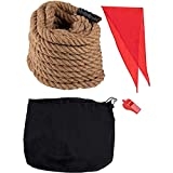 Tug of War Rope Set for Adults or Kids, Team Building, Family Gathering (50 Feet)
