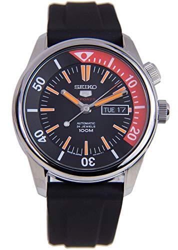 Seiko 5 Sports SRPB31J1 Reloj automático con Bisel de Goma y Esfera N