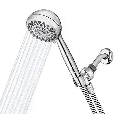 Waterpik High Pressure Powerpulse Massage Hand Held, Chrome Detachable Shower head with 7 Spray Settings and 5' Hose, XRO-763