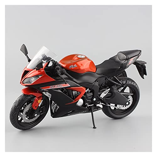 Boutique 1:12 Miniature For Kawasaki Ninja ZX-6R Sport Bike Metal Motorcycle Diecast Racing Model Collection Car Toy For Children (Color : Orange)