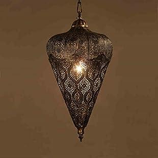 Southeast Asian American retro restaurant entrance Balcony Bar Hand hollow iron chandelier lighting designer personality