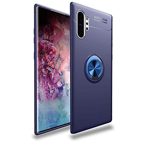 Hülle für Samsung Galaxy Note 10 Plus SM-N975F Galaxy Note 10 Plus 5G N976F Schwarz Schutzhülle Stoßfest Handyhülle Magnetring Kickstand 3D Curved Displayschutzfolie, Thermoplastisches Polyurethan, blau, For Samsung Galaxy Note 10 Plus SM-N975F