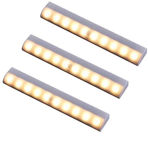 Joojun Nuevo LED Luces de Sensor de Movimiento magnético Stick-on Sensing Night Luz de inducción de Cuerpo Inteligente para Armario Armario Armario