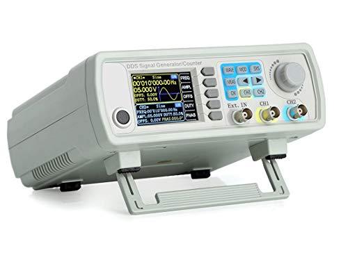 RUIZHI Contador de generador de señal DDS actualizado de 15MHz, Medidor de frecuencia de generador de función de forma de onda arbitraria de doble canal de alta precisión 200MSa / s (15MHz)