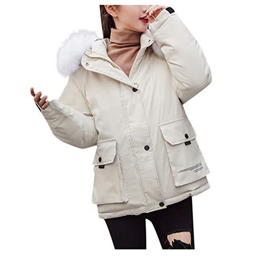FRAUIT dames winterjas met capuchon gewatteerde jas donzen katoenen jas verdikte korte mantel gewatteerde kraag faux capuchon mantel hot