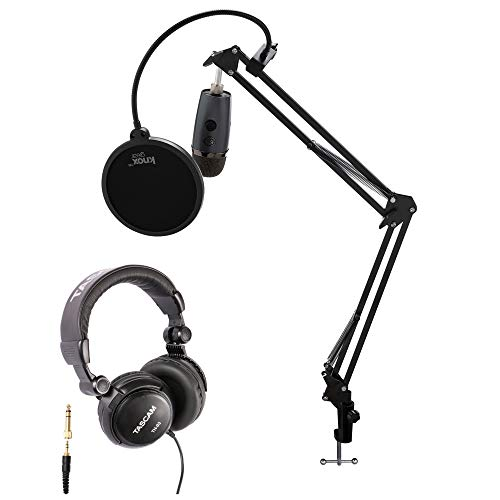 Blue Yeti Nano Premium USB Microphone (Shadow Gray) with Tascam TH-03...