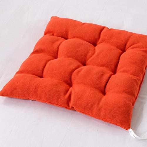 DFGH Garten Kissen, Haushalt weiche Kissen Schwamm hohe elastische Baumwolle Kissen Büro Studentenstuhlkissen Stuhl Kissen (Color : Orange)