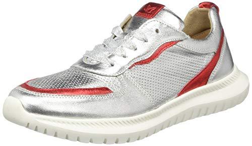 CAPRICE Damen Kos Sneaker, Silber, 37 EU