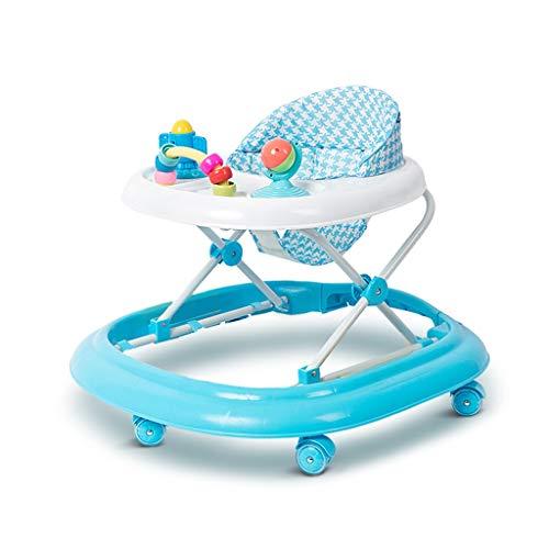 Andador de bebe Walker para niños 6/7-18 Meses multifunción antivuelco Push Can Sit Baby Walker FANJIANI (Color : Azul, Tamaño : 2)