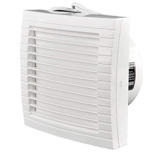 Sntsya ventilator voor badkamer, afvoerventilator, halve soort van het raam, robuust, ventilator/glas, automatisch, 160 mm