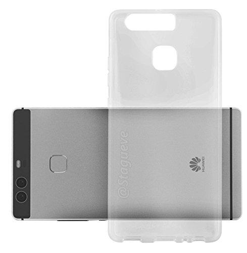 Cadorabo Funda para Huawei P9 en Transparente – Cubierta Proteccíon de Silicona TPU Delgada e Flexible con Antichoque – Gel Case Cover Carcasa Ligera