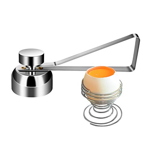 ATUIO - Eieröffner, Edelstahl-Eieröffner, Eierschneider und Eierkochwerkzeug, Edelstahl Eiercracker Opener Küche Gadget für Rohes Oder Weiches Hart Gekochtes Eier
