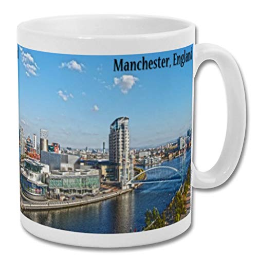 Manchester River City View Day England UK – Souvenir 295 ml Tasse