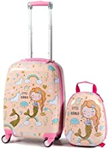 GYMAX 2Pc Kid Carry On Luggage Set, 12