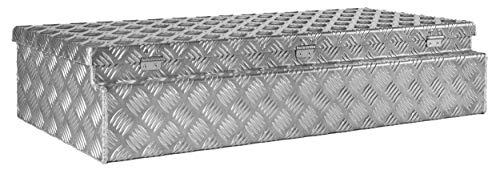 Deichselbox, Premium, aus Alu Riffelblech 2,5/4 mm, Staubox, Truckbox, Werkzeugkasten, Gurtkiste, B 914 x H 190 x T 387 mm Inhalt: ca. 65 Ltr.