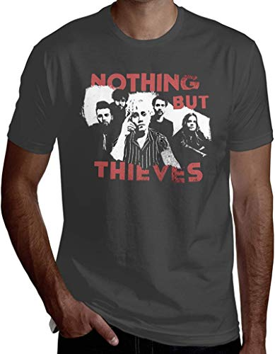 Men's Ultra Soft Printing Nothing But Thieves Short Sleeve T-Shirts,Deep Heather,3X-Large