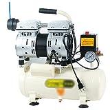 YHRJ Compressore Silenzioso Compressori d'Aria per officine con Guscio Motore antiscottatura + silenziatore + Piedino Antiscivolo, utilizzati per la metallurgia Meccanica,550W 8L A