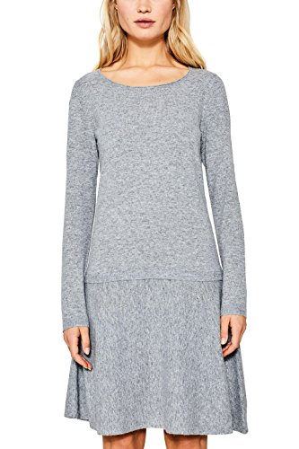 ESPRIT Damen 107EE1E004 Kleid, Grau (Grey 5 034), Large