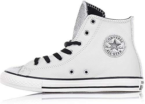 CONVERSE Chuck T. ALL STAR 655161C ARGENTO ZIP LATERALE (27)