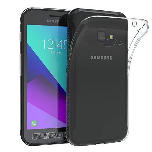 EAZY CASE Hülle kompatibel mit Samsung Galaxy Xcover 4 Schutzhülle Silikon, Ultra dünn, Slimcover, Handyhülle, Silikonhülle, Backcover, Durchsichtig, Klar Transparent