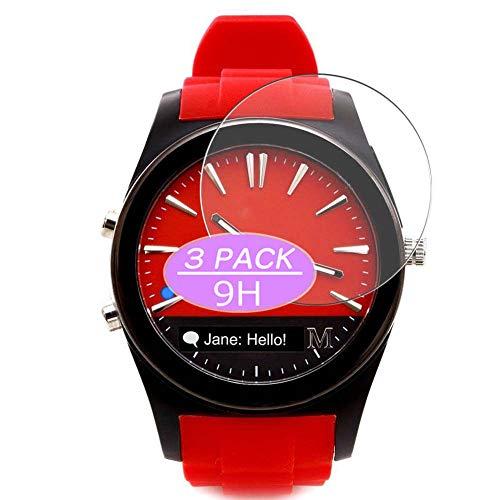 Vaxson - Pellicola proteggi schermo in vetro temperato, compatibile con orologi ibridi con marchio marziano, 3 pezzi