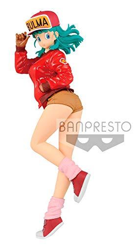 BANDAI- Glitter & Glamours Dragon Ball Estatua Glitterr & Glamours Bulma, Multicolor (Banpresto BANP82728)