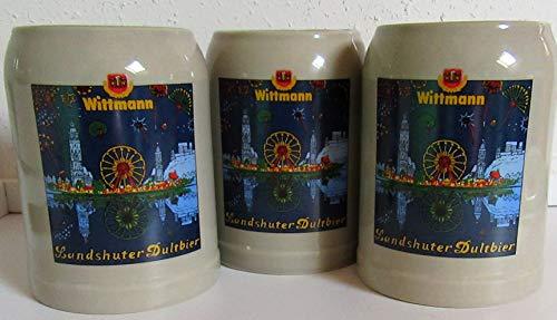 Wittmann Krüge/Bierkrug Steinkrug/Landshuter Dultbier / 3 x 0,5 Liter/Bierkrug