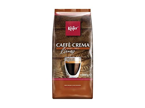 Käfer Caffè Crema, ganze Bohne, Aroma-Softpack, 1.000 g, 1er Pack (1 x 1 kg)