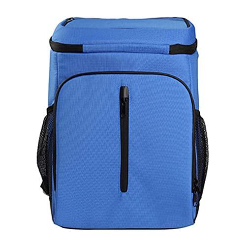 OUTEW Nevera Camping Mochila Termica Acumulador de Frio para Nevera Portatil Bolsa Enfriadora de 24 Latas de Cerveza Diseño de Abridor de Botellas Portátil,Blue,25L