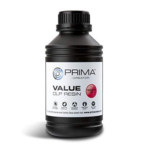 PrimaCreator Value UV/DLP Resin - 500 ml - Transparent-Rot