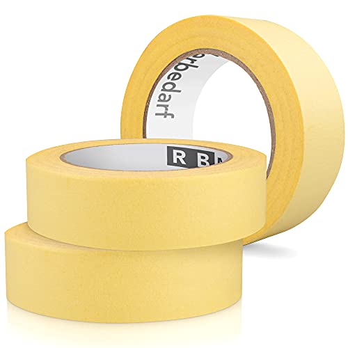 RBMalerbedarf - 29mm x 50m Kreppband | | Klebeband | Bis zu 3 Tage rückstandslos entfernen - Malerzubehör - Maler Krepp - Klebeband Maler