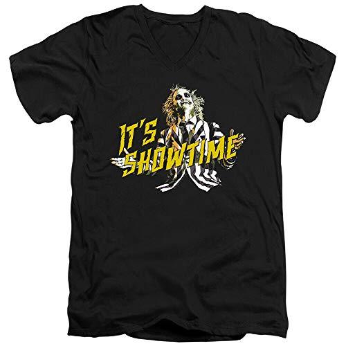 Beetlejuice Showtime Adulto Camiseta para Hombre Verano Impresión Divertida Manga Corta Al Aire Libre DIY Camiseta Linda Suelta Slim Cartoon Algodón O-Cuello Tops