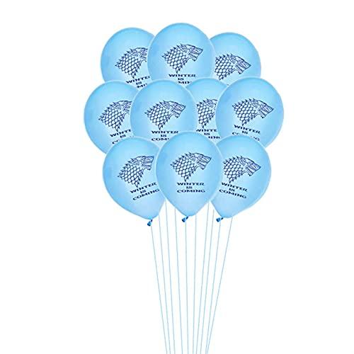YSDSPTG Globos 1sEset Latex Globos Game Adult Ballons Feliz Cumpleaños Banner Aniversario Party Decoration Kids Boys Toy Supplies (Color : Blue)