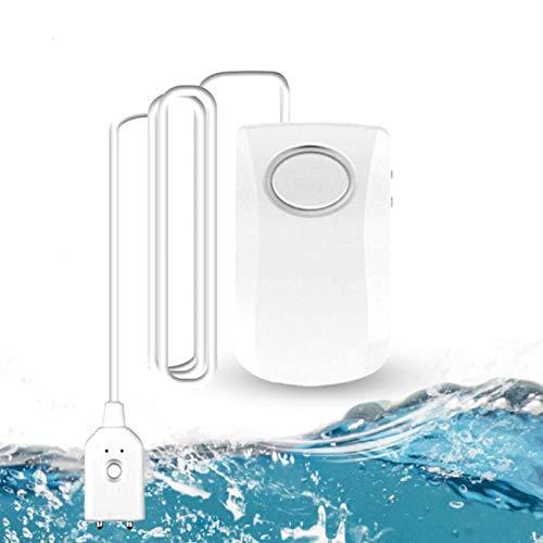 GuDoQi Wassermelder, WLAN Wasser Alarm, 130dB Super Laut Wasserleckalarm, WiFi Wassersensor Wasserleckdetektor mit TUYA/Smart Life APP, Kabelloser Wasserlecksensor Wasserwächter für Küche, Bad, Keller