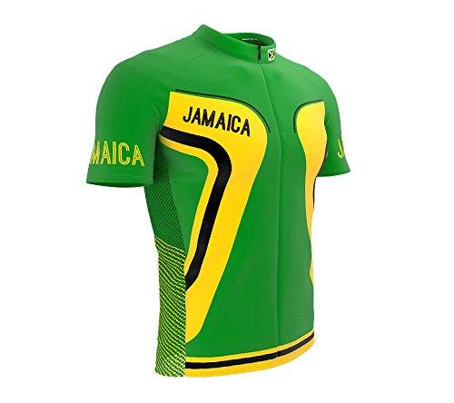 ScudoPro Jamaica Full Zipper Bike Short Sleeve Cycling Jersey for Men - Size 2XL