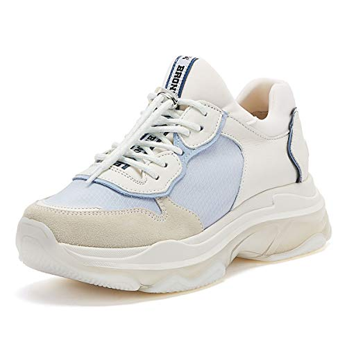 Bronx Baisley Frauen Nicht-Gerade Weiss/Babyblaue Sneakers-UK 5 / EU 38