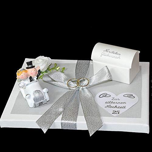 Geld Geschenk zur silbernen Hochzeit
