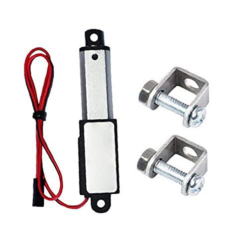 Mini actuador lineal eléctrico pequeño impermeable con soportes de montaje 12V 60N longitud de carrera de 30 mm 15 mm Velocidad
