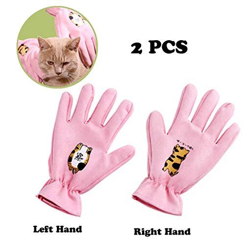 Wwjpet 2 Pack Huisdier Grooming Handschoen voor Katten Honden En Paarden Huisdier Haarverwijderaar met Massage Borstel voor Lange Haarvergieten Elastische Opening Zacht