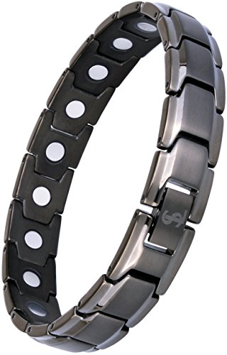 Smarter LifeStyle Elegant Titanium Magnetic Therapy Bracelet Pain Relief for Arthritis and Carpal...