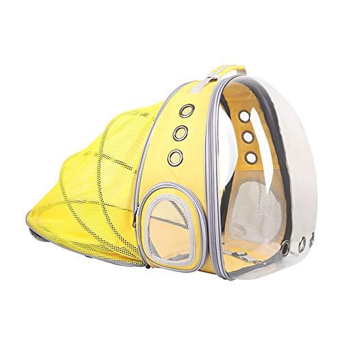 Mochila pet visão panorâmico astronauta com barraca camping Amarelo