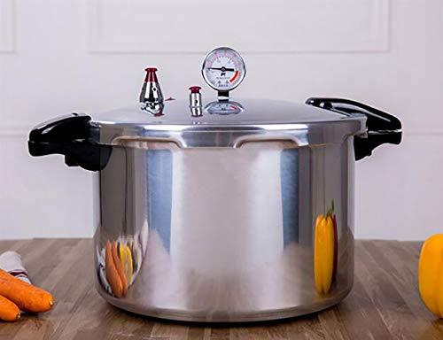 Aluminium-Legierung Druckbehälter mit Manometer mit hohen Kapazität Slow Cooker Gewerbe große Kapazitäts-Aluminium Schnellkochherd Druck Canner Reis Cooker15L / 22L ( Color : Silver , Size : 22L )