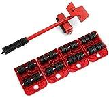 TXOZ-Q 500 kg Pesada Muebles Rodillo móvil Conjunto, de 5 Piezas, Levantador Easy Mover el Sistema de Herramienta, Perfecta for Sorteos/Armario/Lavadora/Secadora/Sofá