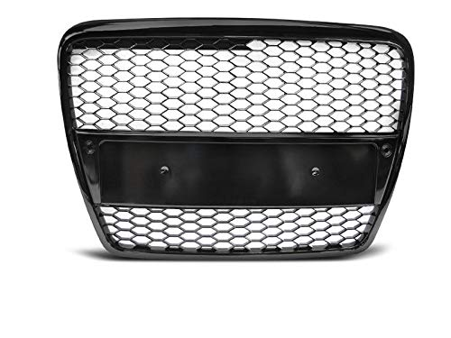 RS6 Front Honey comb Grill voor A6 C6 4F 04-11 BLACK GLOSS