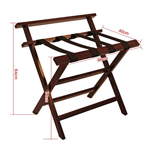 Best Prices! ZCCXLJ Hotel Luggage Rack Hotel Room Solid Wood Folding Rack Folding Luggage Rack Woode...